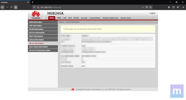 Cara Login Akun Admin Modem Indihome Huawei HG8245H dan HG8245A