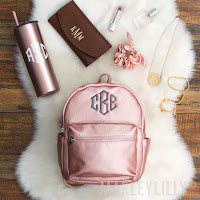 personalized mini backpack in pink