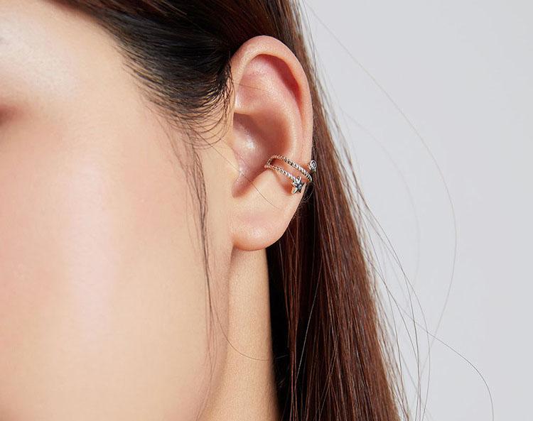 星星的呢喃 925純銀耳骨夾 (單只)
