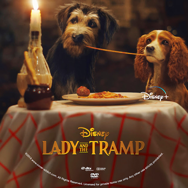 Lady and the Tramp (2019) DVD Label
