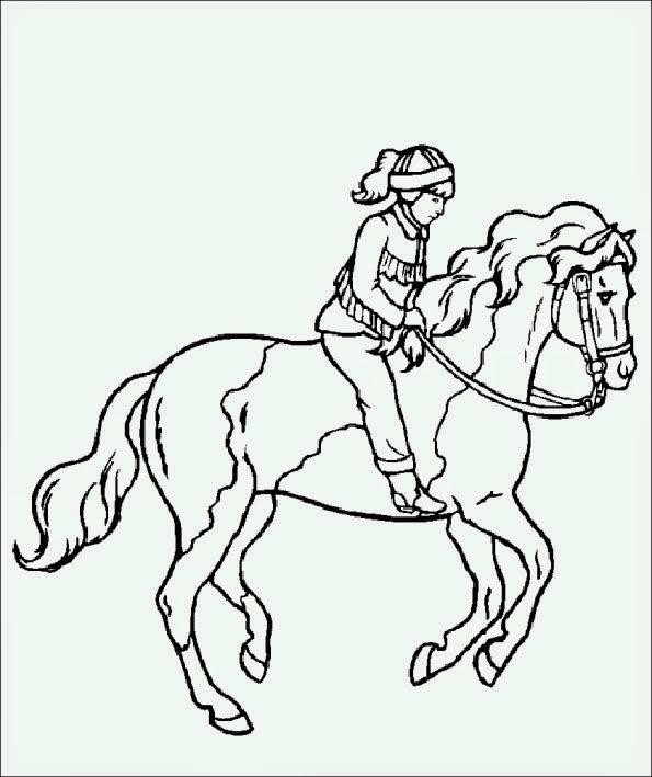 35 Pferd Mit Reiter Ausmalbild Besten Bilder Von Ausmalbilder