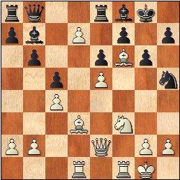 Partida de ajedrez Llorens vs. Ingelmo, posición después de 20.d7!