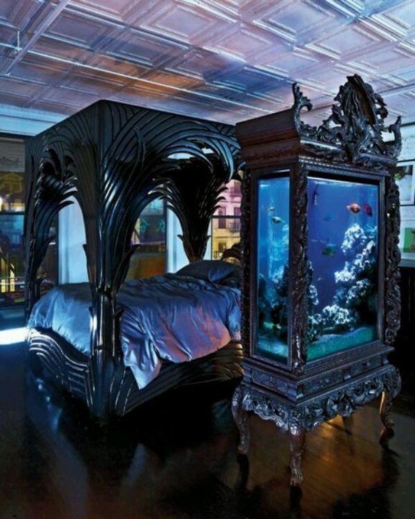mysterious gothic bedroom home design interior design kitchen design ideas. Black Bedroom Furniture Sets. Home Design Ideas