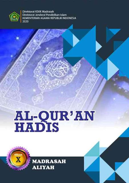Buku Al Quran Hadis Kelas 10 MA