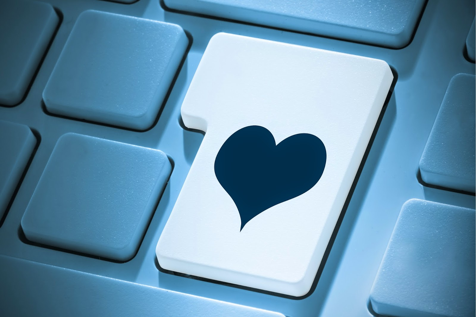 Heart on enter key