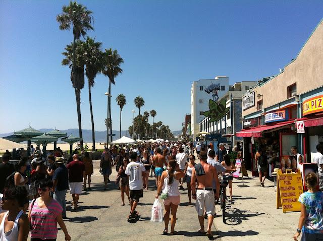 Ocean Front Walk em Venice Beach em Los Angeles