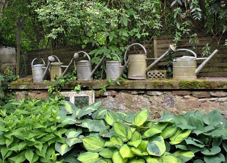 Bauerngarten Zinkgießkannen