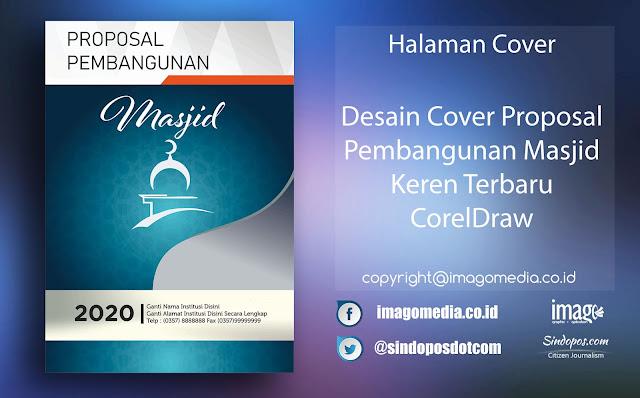 Desain Cover Proposal Pembangunan Masjid Keren Terbaru CorelDraw