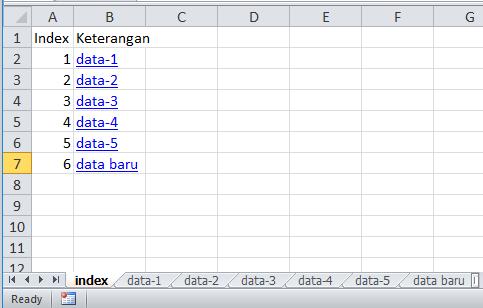 contoh daftar isi dan hyperlink otomatis