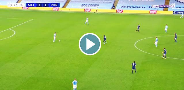 Manchester City vs FC Porto Live Score