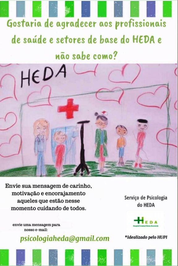 HEDA lança em Parnaíba campanha de mensagens de incentivo e reconhecimento aos servidores; PARTICIPE