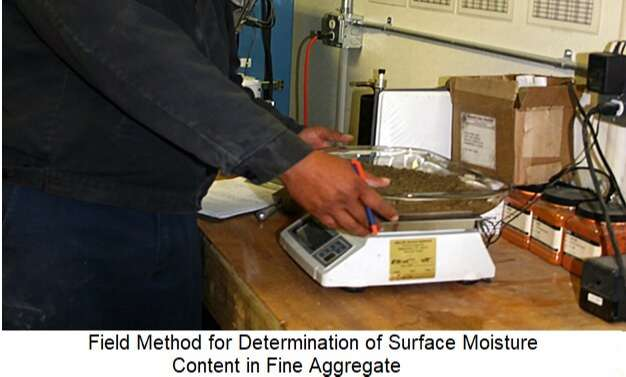 Field Method for Determination of Surface Moisture Content of Fine Aggregate