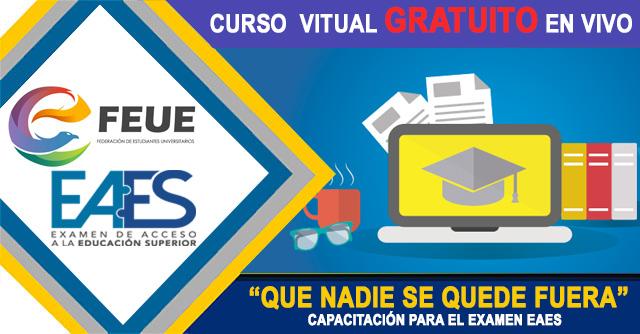 Curso Gratis Examen Eaes Senescyt Feue Ecuador 2020 Clases Gratuitas Online