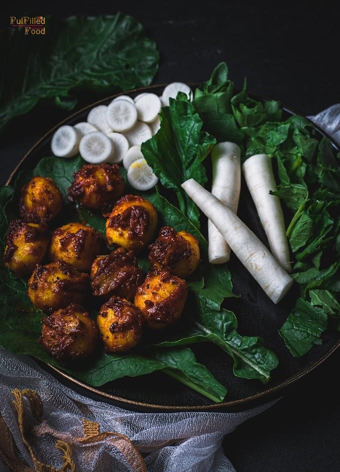 Sweet Spicy Baby Potatoes & Salad