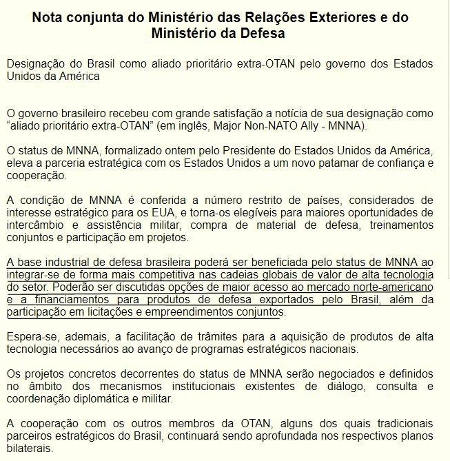 http://www.defesanet.com.br/br_usa/noticia/33732/Nota-Itamaraty-e-MD---Designacao-do-Brasil-como-aliado-prioritario-extra-OTAN-pelo-governo-dos-Estados-Unidos-da-America-/?fbclid=IwAR1xmEhyY6y2LQaG8-NBrodKAgzbxGm0ElUKEiIjt3j32vTu3UvlujjYUFo