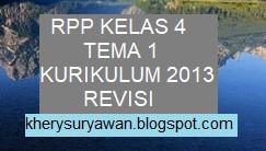 File Pendidikan RPP k13 Kelas 4 SD Tema 1 Lengkap Revisi Terbaru