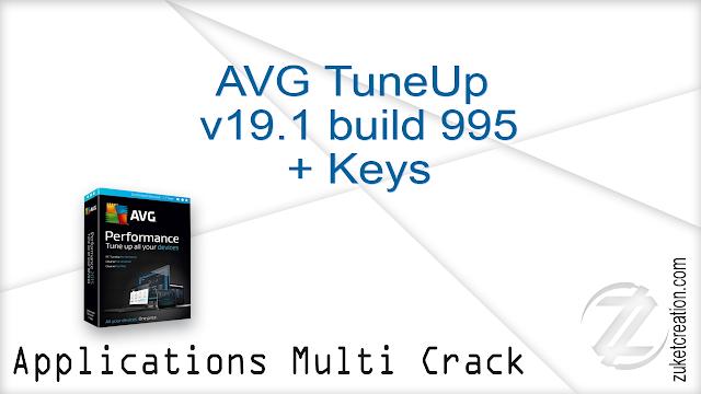 AVG TuneUp v19.1 build 995 + Keys    |  58.9 MB