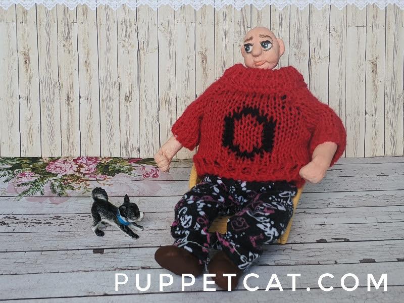 кукла для кукольного домика мужчина