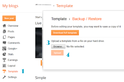 How To Upload Blogger/Blogspot Template