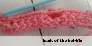 crochet bobble stitch reverse side