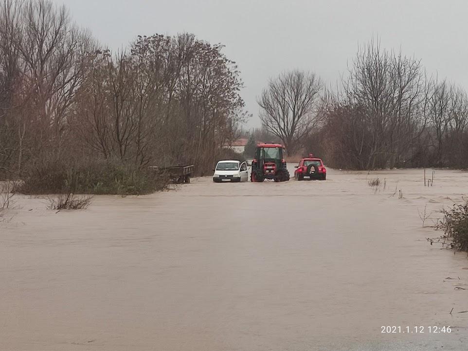 Καταστροφές από την κακοκαιρία – Αγωνία στον Έβρο