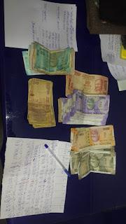 सट्टा लिखते सटोरिये को रंगे हाथ पकड़ा, 9 हजार 250 रूपये जप्त