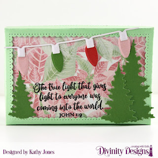 Stamp  Set: True Light Custom Dies: Christmas Lights, Trees & Deer, The Giving Gift Box Paper Collection: Christmas 2018