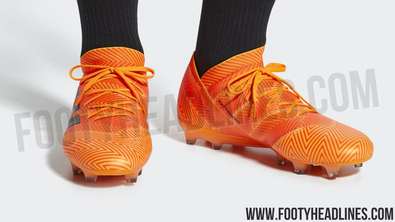 b4f7d52fc58 The Adidas Nemeziz 2018 World Cup boots still come with the silo s  trademark tape-inspired design