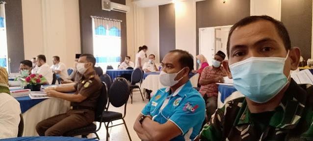 Danramil 06/Kisaran Turut Serta Mengahdiri Rapat Koordinasi Dalam Pengembangan dan Pembinaan Kota/Kabupaten Tanggap Ancaman Narkoba
