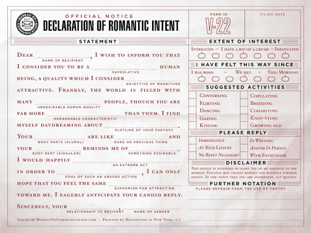 Form To Use To Declare Your Love Intention.