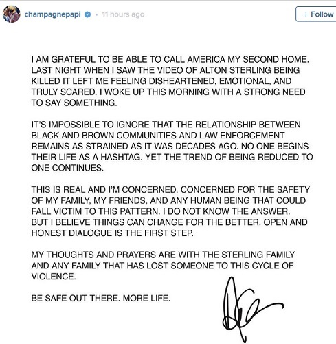 Disheartened & Scared: Drake's Emotional Response to Latest Killing of Black Man by Police + Murder Videos