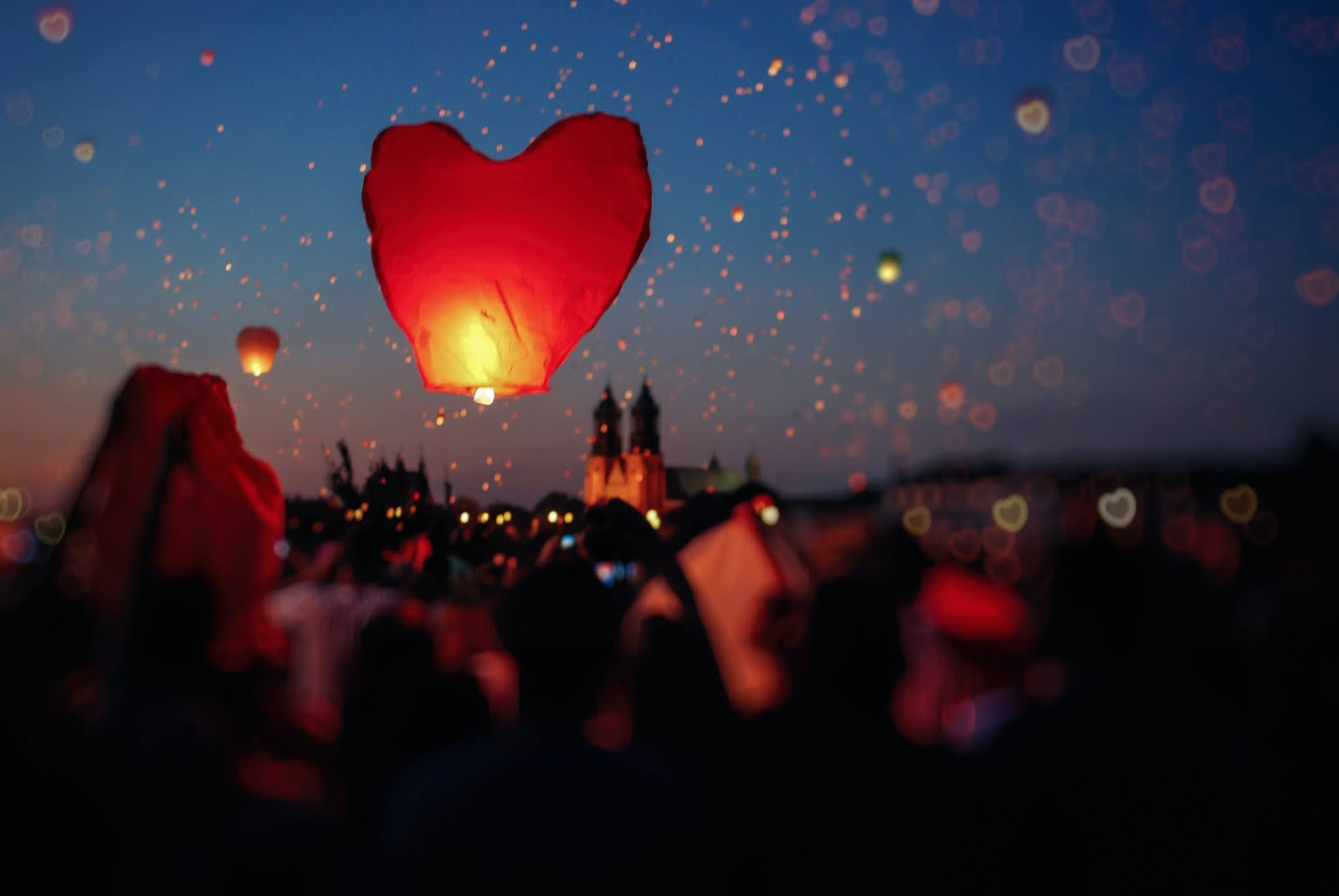 hot air ballon heart images shaped