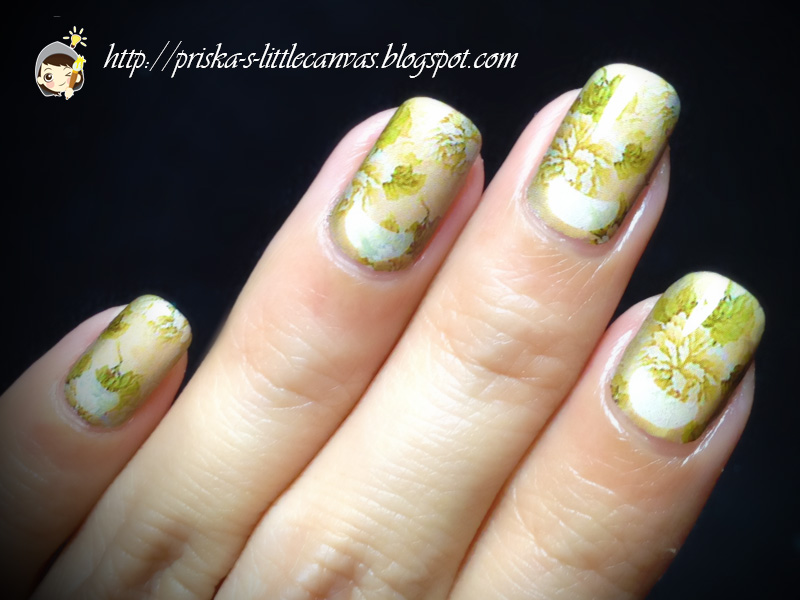 Mylittlecanvas Floral Wallpaper Style Nail Art In