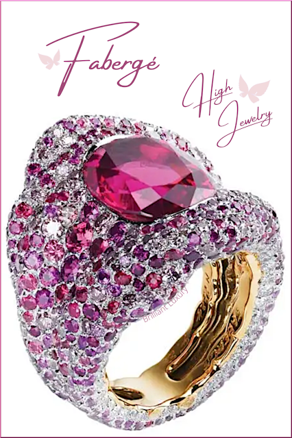 Fabergé individually hand-chosen pink coloured gemstone ring by artist-jeweller Frédéric Zaavy #brilliantluxury