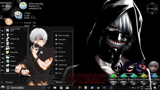 Windows 10 Ver. 1703 Theme Tokyo Ghoul by Enji Riz