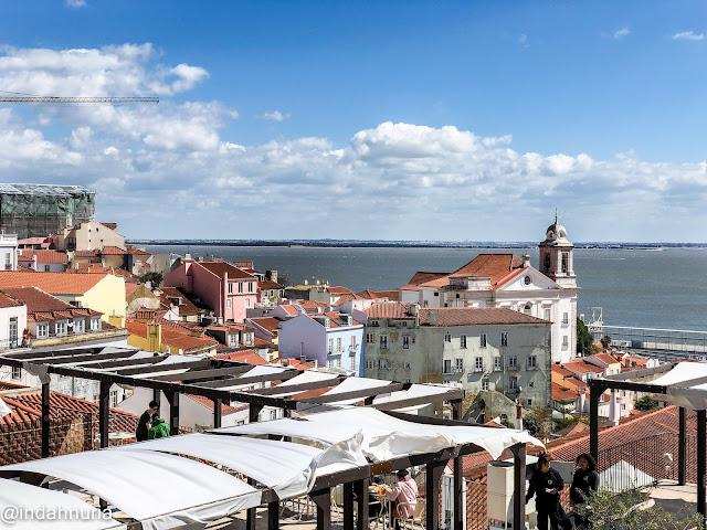 Beautiful sky at Lisbon, Portugal