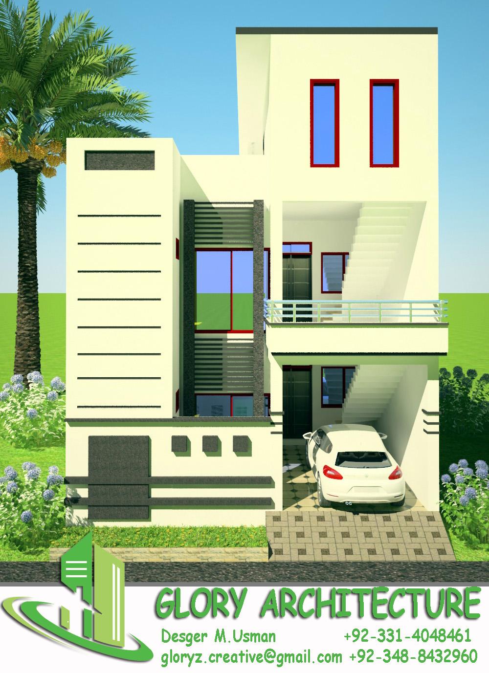25 X 50 Home Design Part - 24: 25x50 3D VIEW
