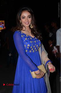 Telugu Actress Tejaswi Madivada Pos in Blue Long Dress at Nanna Nenu Na Boyfriends Audio Launch  0039.JPG