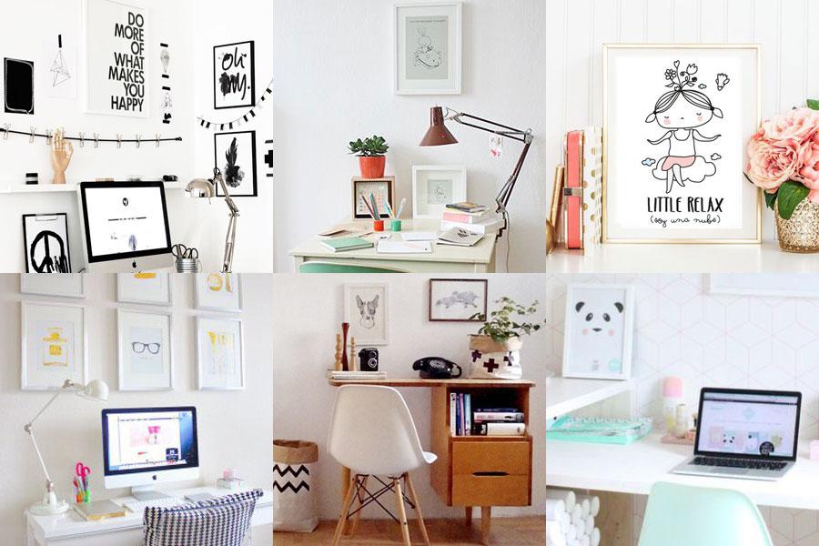 5 objetos imprescindibles para un escritorio más feliz - laminas - dibucos