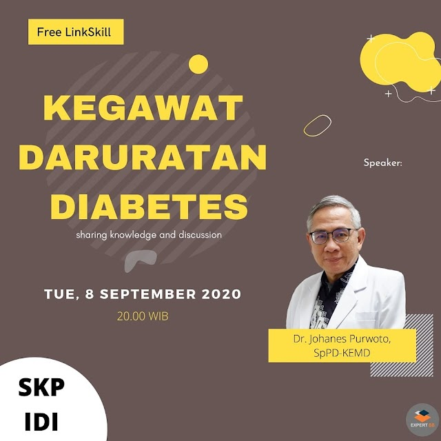 "Webinar Kegawatdaruratan Diabetes"" Selada, 8 September 2020"