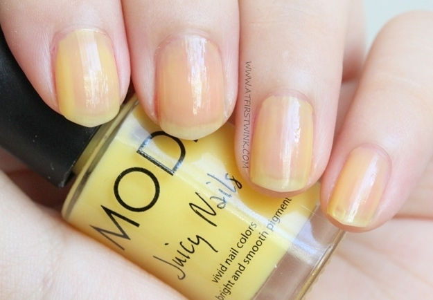 Review: Modi Juicy Nails no. 17 - Banana Shake one coat