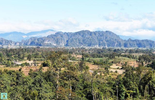 Miradores en loop de Thakhek, Laos