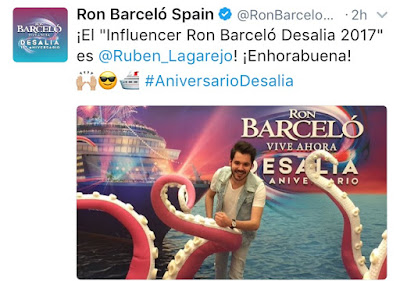 Tweet de Ron Barceló Spain donde se daba la noticia