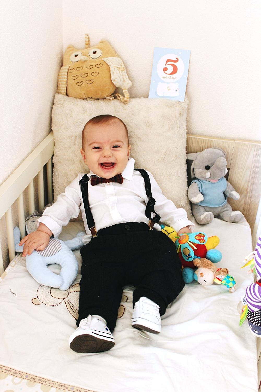5 months old baby boy; 5 meseci beba; baby boy cute outfit idea