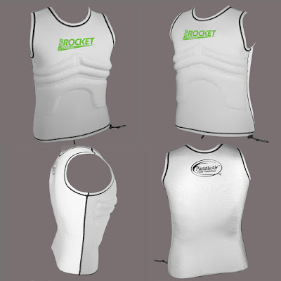 The Rib Rocket Lycra/Neoprene Tropic White/Gray Vest by PaddleAir