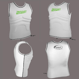 Rib Rocket Lycra/Neoprene Tropic White/Gray Vest