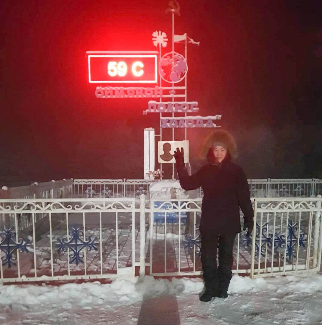 В Якутии -65. Но людям это не мешает