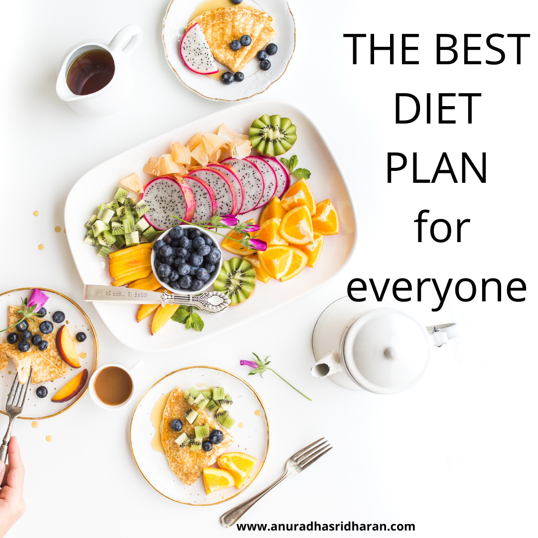 The Best Diet Plan For Everyone Anuradha Sridharan