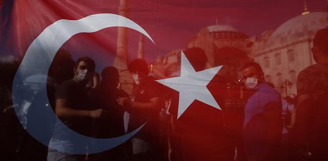 Κοσμοσυρροή και συνθήματα από μουσουλμάνους μόλις υπέγραψε ο Ερνντογάν