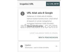 Cara Mengecek Postingan Sudah Terindex Google atau Belum